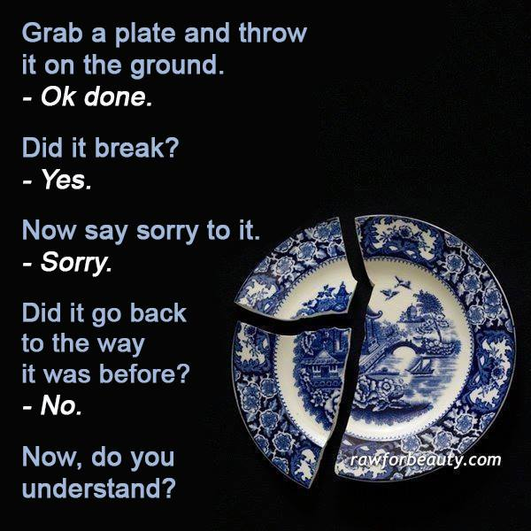 broken plate graphic